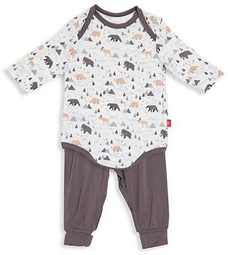 Magnetic Me Baby's Tiny Tundra Tiny Tundra 2-Piece Modal Magnetic Bodysuit + Harem Pants