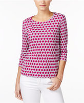 Charter Club Petite Cotton Printed Top, Only at Macy's