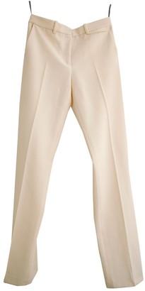 Reed Krakoff Ecru Wool Trousers for Women