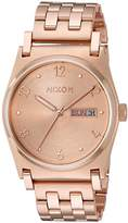 Nixon Women's 'Jane' Quartz Metal and Stainless Steel Watch, Color:Rose Gold-Toned (Model: A954897-00)