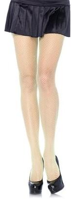 Leg Avenue Women's Nylon Fishnet Pantyhose Hosiery, Neon Green, One Size