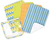 Trend Lab 5-Pack Levi Burp Cloth Set with Zippered Pouch