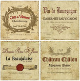 THIRSTYSTONE COLLECTION Thirstystone Wine Labels Set of 4 Stoneware Coasters