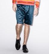 Paul Smith Navy Cotton-Blend Satin Shorts