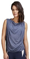 Zobha Women's Yves Sleeveless Drape Top with Zipper Neckline