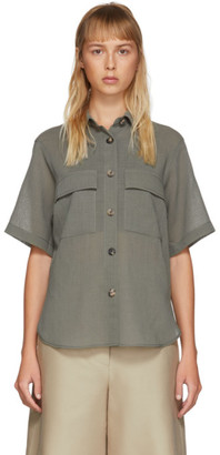 LVIR Khaki Summer Wool Short Sleeve Shirt