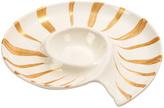 Certified International Coastal Discoveries 3-D Shell Chip & Dip Serving Platter