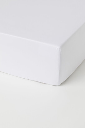H&M Fitted Cotton Satin Sheet