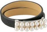Majorica 6mm Leather Bracelet