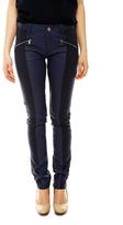 Laura Jo Navy Faux Leather Pants