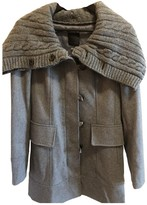 Pinko Grey Wool Coat for Women