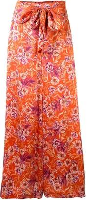 AMUR Floral Wide-Leg Trousers