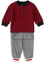 Ralph Lauren Infant Boys' Check Henley Top & Terry Jogger Set - Sizes 3-24 Months