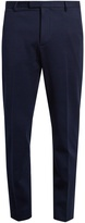 Gucci Bee-button tailored cotton-jersey trousers