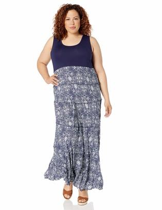 Karen Kane Women's Plus Size Topanga Tiered Dress