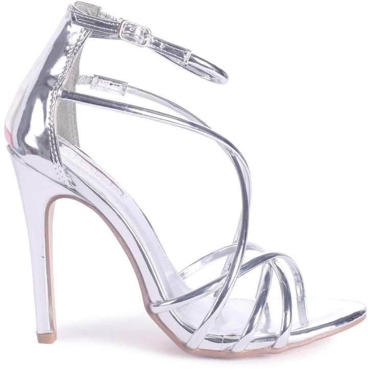 6efb8976167 Linzi Paloma Silver Strappy Stiletto Heels