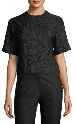 Calvin Klein Floral Jacquard Blouse
