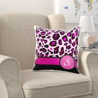 Zoomie Kids Dube Personalized Initial Monogrammed Leopard Pillow Cover Letter: S