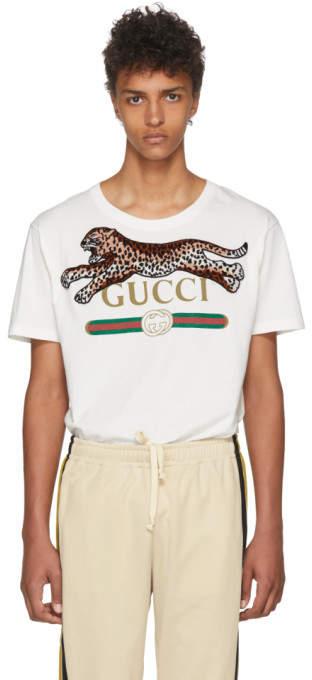 Gucci Off-White Leopard T-Shirt