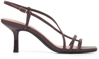 Forever New Bryn Side Detail Heels - Burgundy - 37