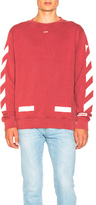 Off-White Diagonal Arrows Sweatshirt in Red.