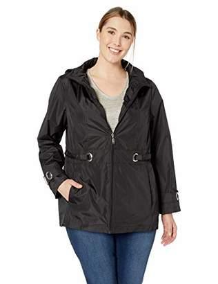 Details Women's Plus Size Zip Front Hooded Jacket