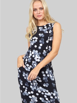 M&Co Izabel polka dot print fitted dress