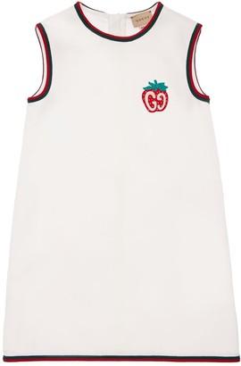 Gucci Sleeveless Dress W/ Strawberry Patch