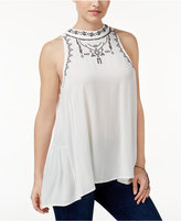 American Rag Embroidered High-Low Top, Only at Macy's