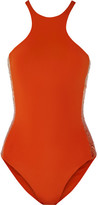 La Perla Radiance Sequin-embellished Swimsuit - Bright orange