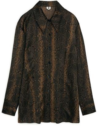 Arket Snakeskin Waisted Shirt