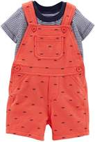 Carter's Baby Boys' 2 Piece Print Shortall Set (Baby) - 12 Months