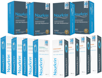 Nourkrin Man for Hair Preservation 12 Month Bundle with Shampoo and Conditioner x4 (Worth 623.56)