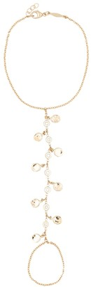 Jacquie Aiche Shaker 14kt gold and diamond finger bracelet