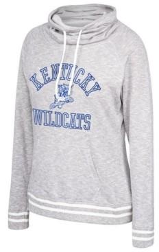 Top of the World Women's Kentucky Wildcats Long Weekend Cowl Neck Sweatshirt