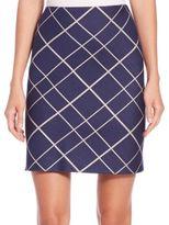 Aquilano Rimondi Plaid A-Line Skirt