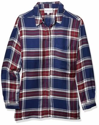 Olive + Oak Olive & Oak Women's Plaid Boyfriend Button-up Top