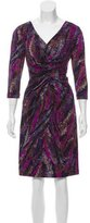 David Meister Splotch Print Three-Quarter Sleeve Dress w/ Tags