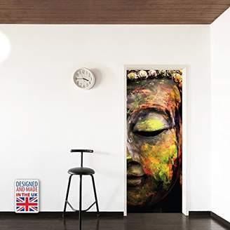 Mural WALPLUS WD10036 Colours of Peace Door Mural, Vinyl, Multi-Colour, 103 x 5.4 x 5.4 cm