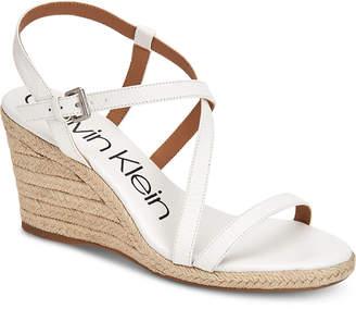 Calvin Klein Bellemine Wedge Sandals Women Shoes