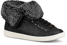 UGG Women's Starlyn Round Toe Lace Up Leather High-Top Sneakers