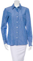 Michael Kors Stripe Button-Up Top w/ Tags