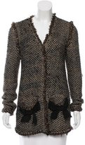 Lanvin Metallic-Accented Tweed Cardigan