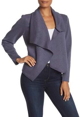 Anne Klein Asymmetrical Snap Knit Jacket