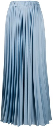 P.A.R.O.S.H. High-Waisted Maxi Pleated Skirt