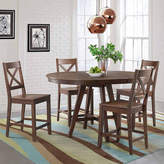 Asstd National Brand Dining Possibilities 5-Piece Round Counter Height Table with X-Back Stools