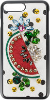 Dolce & Gabbana crystal embellished iPhone 7 plus case - women - Calf Leather/plastic - One Size