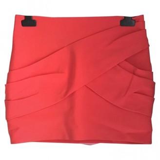 Maje Pink Cotton - elasthane Skirt for Women