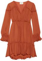 Cinq a Sept Ashburn Ruffled Silk Mini Dress