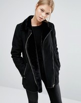 Vila Longline Borg Jacket